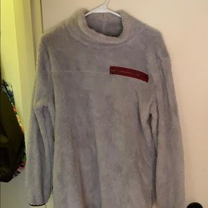 Fuzzy turtleneck sweatshirt